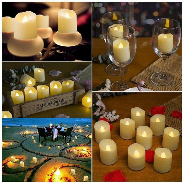 Flameless Candles with Timer Flickering Lights 4
