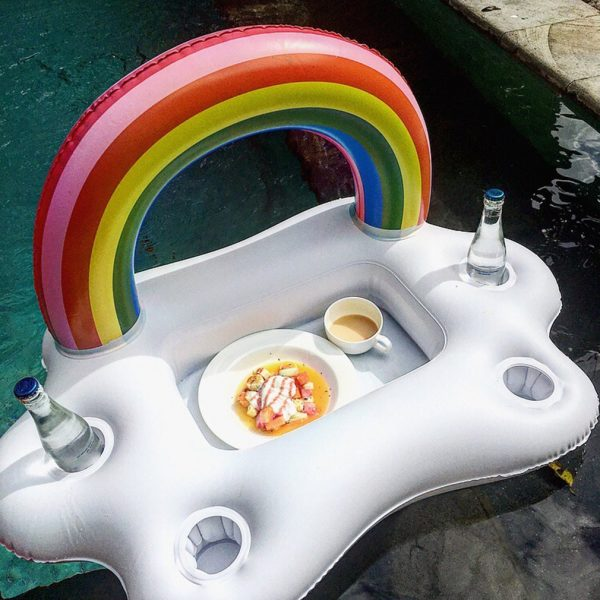 Floating Cup Holder Inflatable Tray 1
