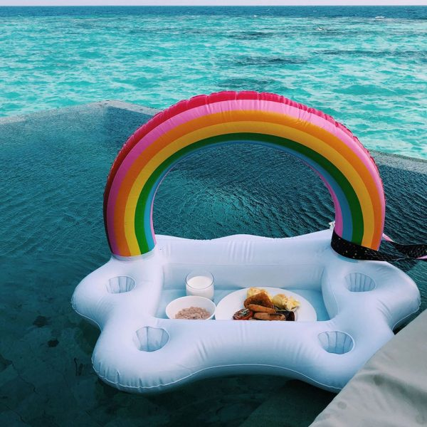 Floating Cup Holder Inflatable Tray 3