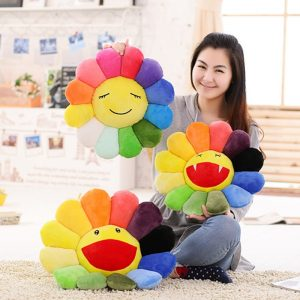 Flower Pillow Colorful Cushion