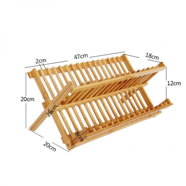 Foldable Wooden Dish Drying Rack 3