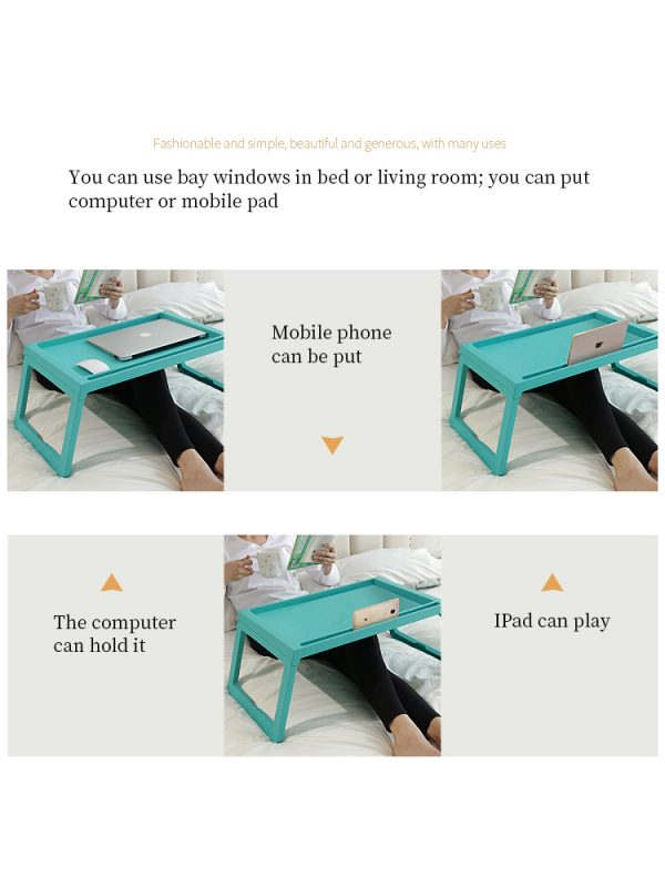 Folding Table Lightweight Portable Mini Office Learning Storage Bed Computer 4