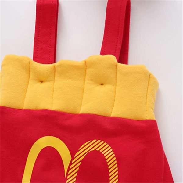 French Fry Costume Infant Jumpsuit with Cap 1