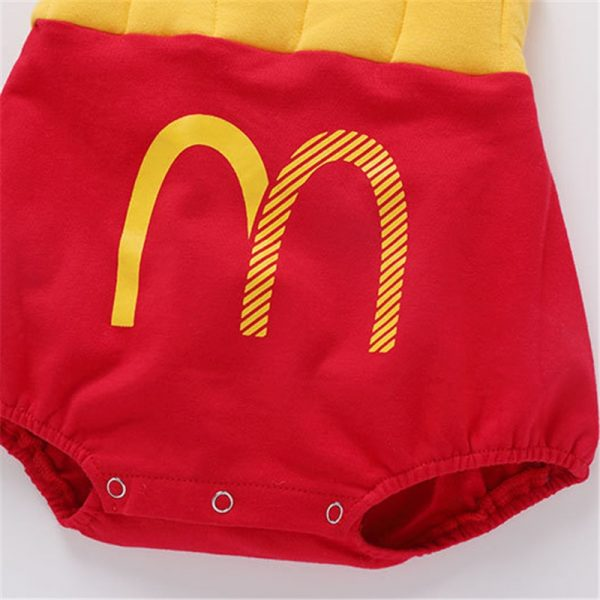 French Fry Costume Infant Jumpsuit with Cap 2