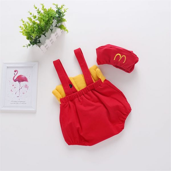 French Fry Costume Infant Jumpsuit with Cap