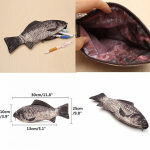 Funny Gifts Realistic Fish Pouch