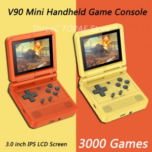 Games Console 3 inch IPS LCD Retro Flip Portable Pocket Mini Video Game Player