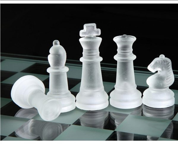 Glass Chess Set Board Game 1