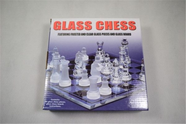 Glass Chess Set Board Game 3