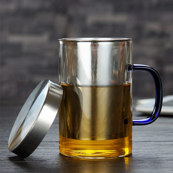 Glass Tea Infuser Cup with Cover 1