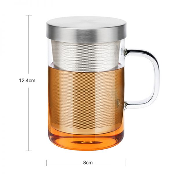 Glass Tea Infuser Cup with Cover 4
