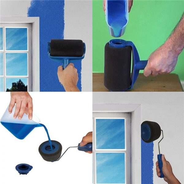 Great 8 Pcs Wall Decorate Painting Roller Brush Set 6