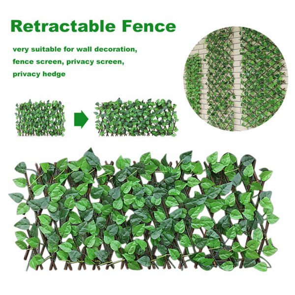 Great Green Vine Expandable Faux Privacy Fence 12