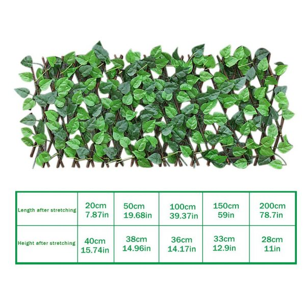 Great Green Vine Expandable Faux Privacy Fence 14