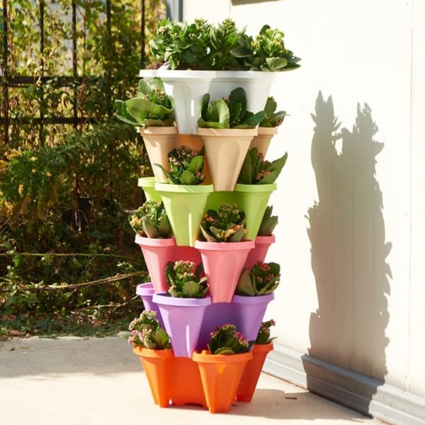 Great Stand Stacking Planters Strawberry Planting Pots 1