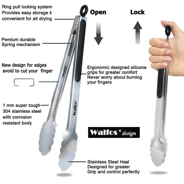 Grill Tongs Stainless Steel Tongs