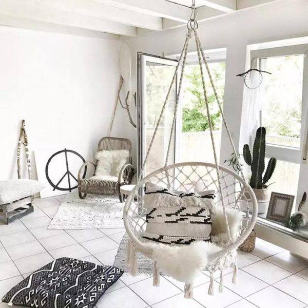 Hanging Rope Chair Cotton Hammock 1