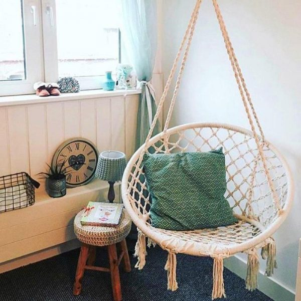 Hanging Rope Chair Cotton Hammock 2