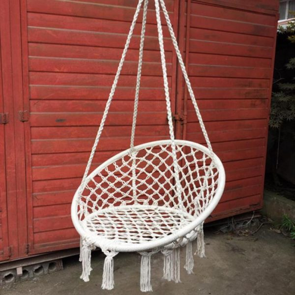 Hanging Rope Chair Cotton Hammock 3
