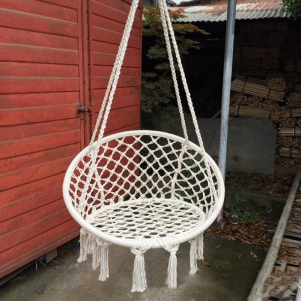 Hanging Rope Chair Cotton Hammock 4