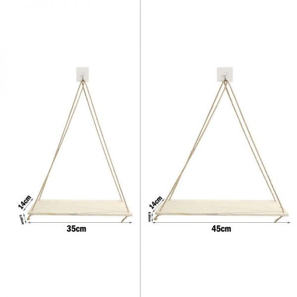 Hanging rope rack Wall Mounted Shelves Plant Flower Pot Rack Beautiful Decoration 1