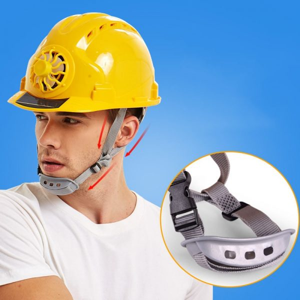 Hard Hat with Fan Solar Powered 2