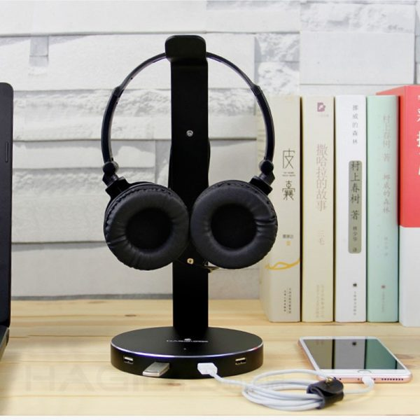 Headset Stand with USB Port 2