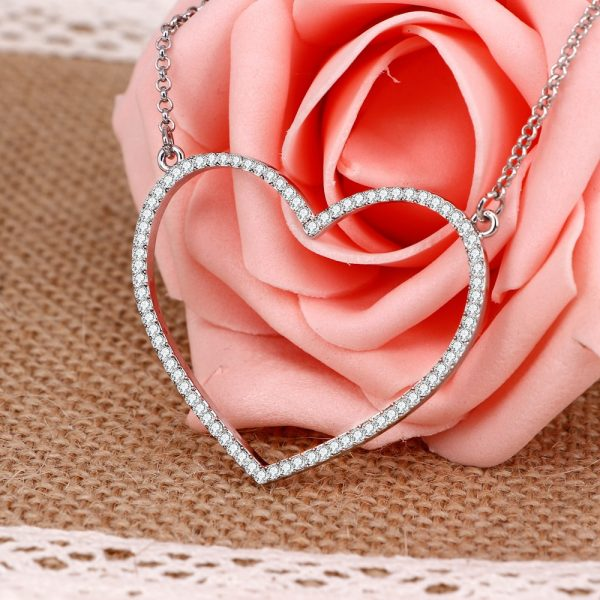 Heart Necklace Long Jewelry Accessories 1