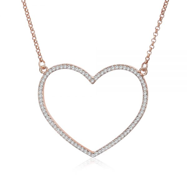 Heart Necklace Long Jewelry Accessories 3