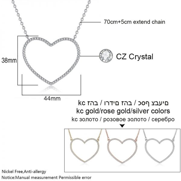 Heart Necklace Long Jewelry Accessories 4