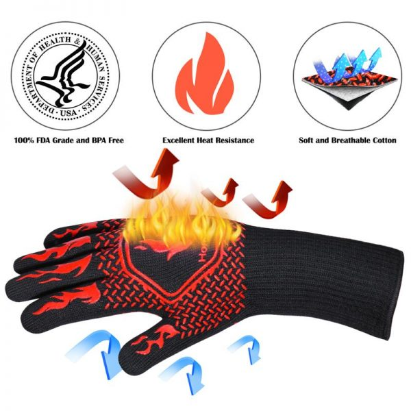 Heat Resistant Grill Gloves 4