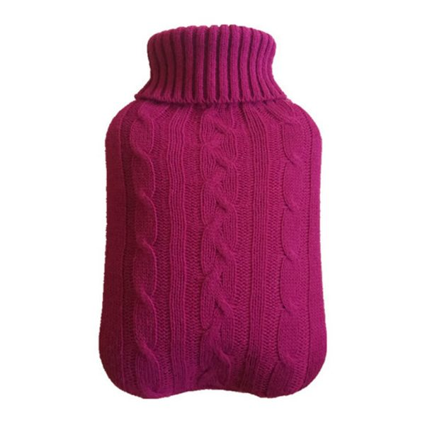Hot Water Bottle Cover Knitted Design 1