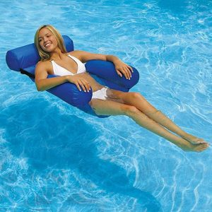 Inflatable Foldable Floating Row Backrest Air Mattresses Bed Beach Swimming Pool Water Sports Lounger float Chair 3