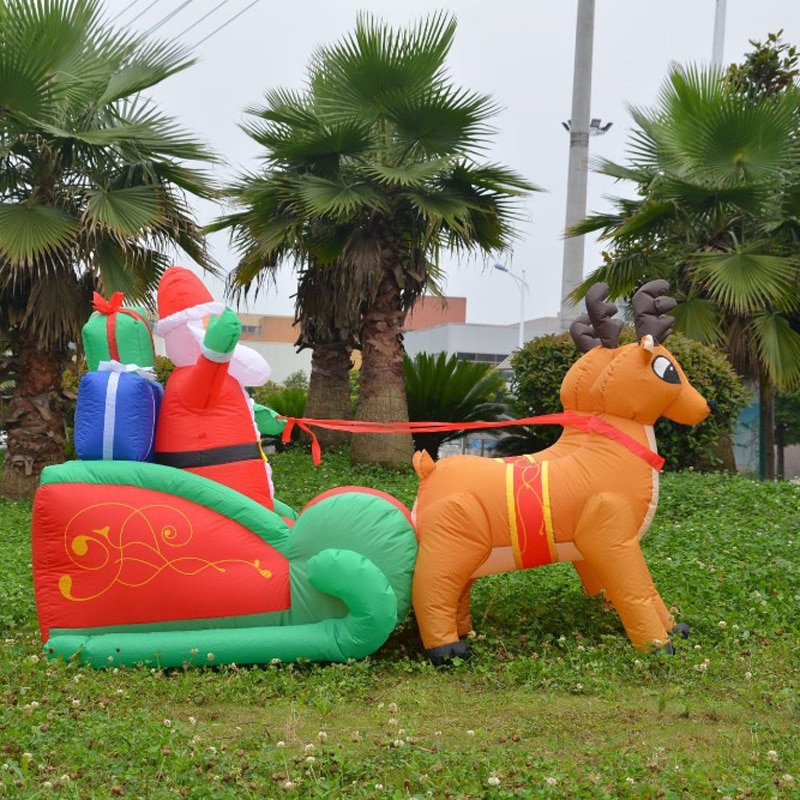 Inflatable Santa Giant Outdoor Decor with LED 1