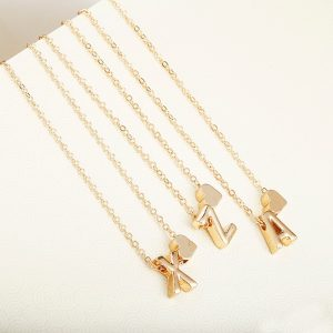 Initial Necklace Fashion Accessory