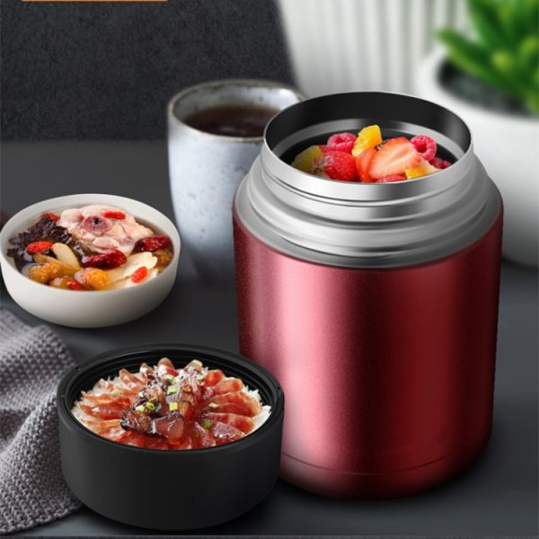 Insulated Food Jar Stainless Steel Flask 4