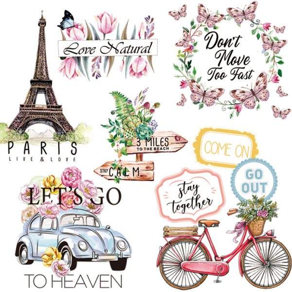 Iron On Decal Colorful Designs