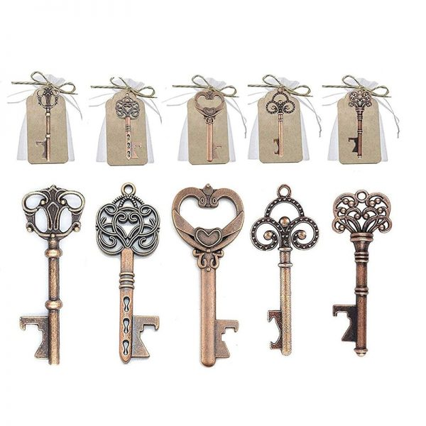 Key Bottle Opener with Paper Labels 2