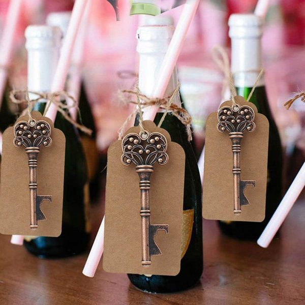 Key Bottle Opener with Paper Labels
