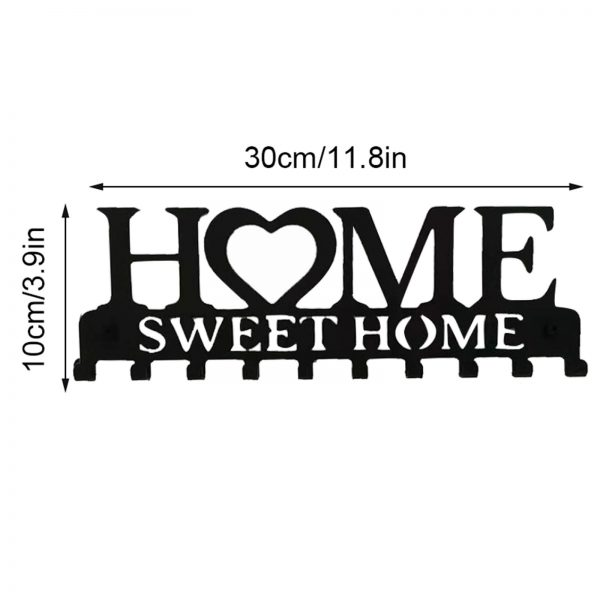 Key Holder With 10 Individual Hooks For Sweet Home 1