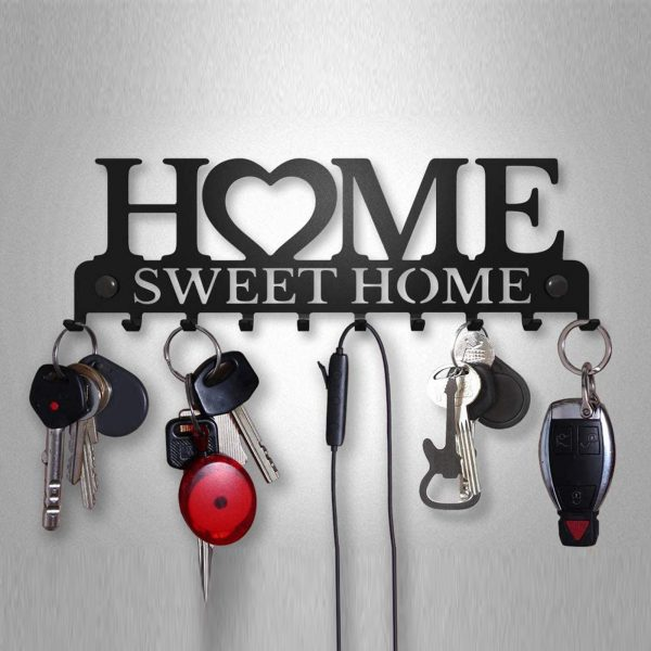 Key Holder With 10 Individual Hooks For Sweet Home