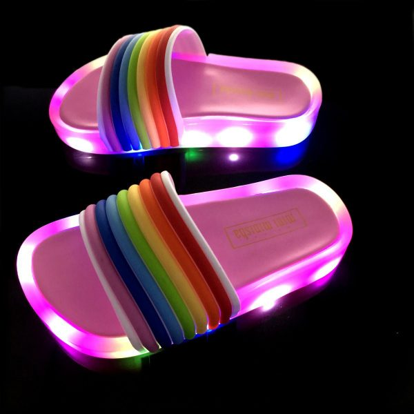 Kids Slippers Colorful LED Lights 1