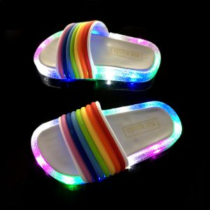 Kids Slippers Colorful LED Lights