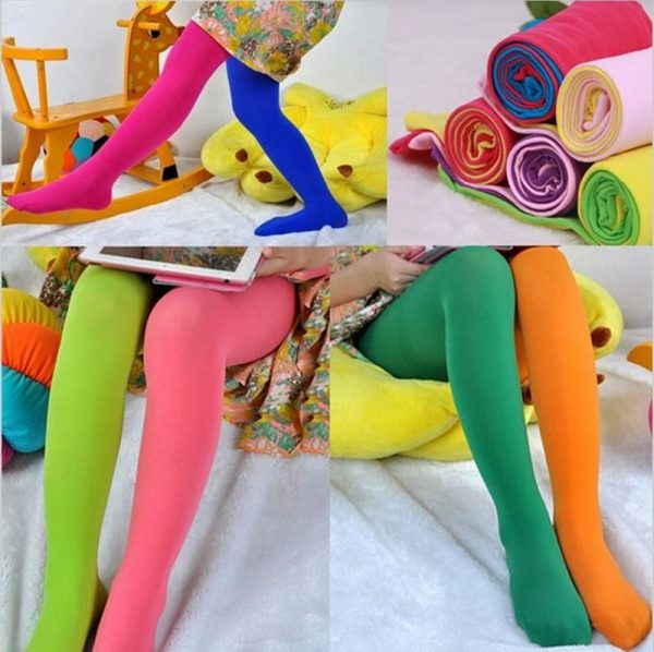 Kids Tights Candy Colored Stockings 1