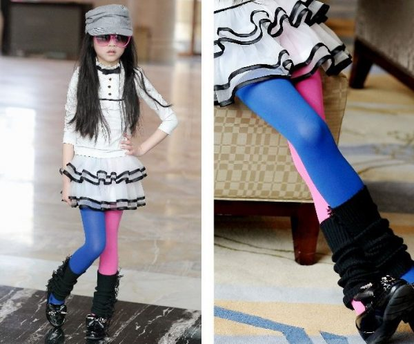 Kids Tights Candy Colored Stockings 4