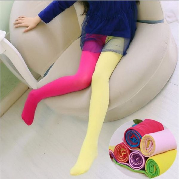 Kids Tights Candy Colored Stockings