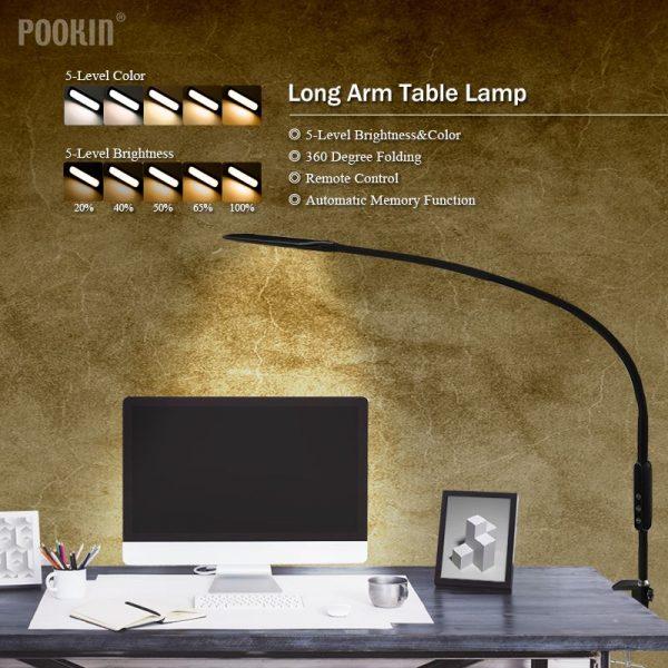 LED Panel Light Long Arm Clip Lamp