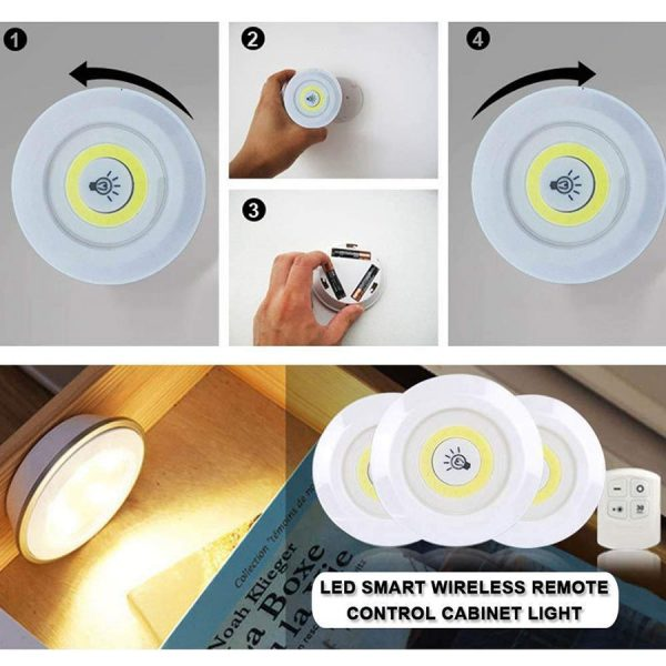 LED Puck Lights with Remote Control 2