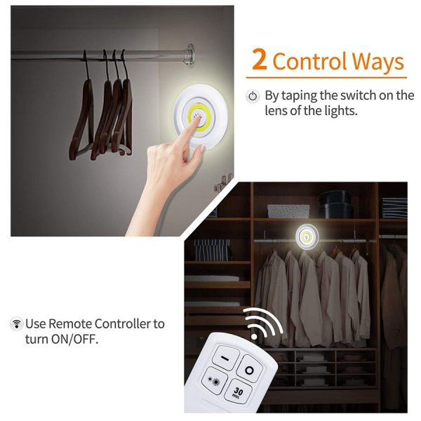 LED Puck Lights with Remote Control 3
