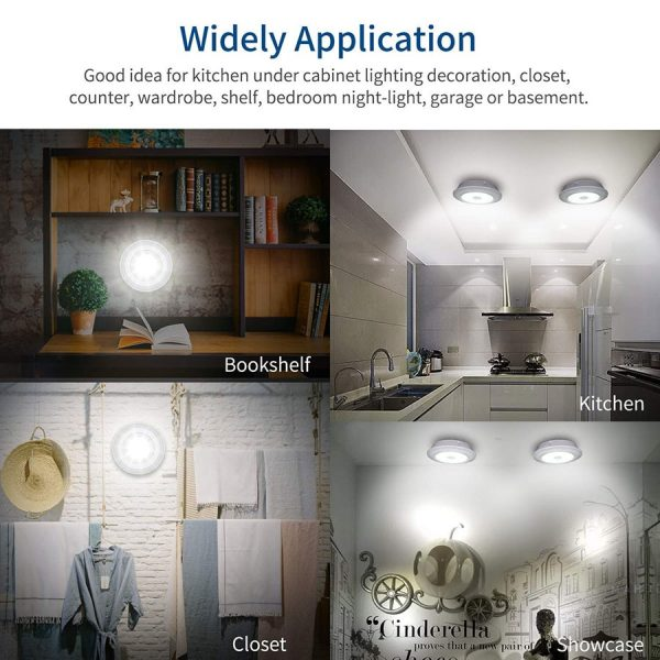 LED Puck Lights with Remote Control 4